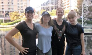 Eve Cohen, Director Sara Nesson, Sherri Kauk and Luisa Conlon for Women Who Score