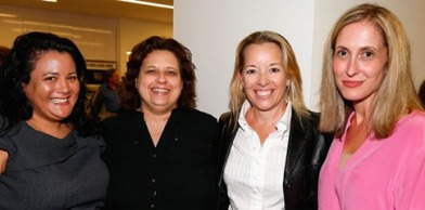 Variety's Jenelle Riley and publisher Michelle Sobrino-Stearns flank PR maven Michele Robertson and Consultant Naida Albright